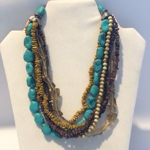 Fun Vintage Acrylic Beaded Necklace